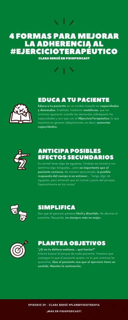 Infografía Adherencia y Ejercicio Terapéutico